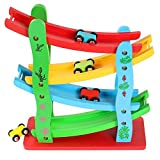 #4: Toyshine Wooden Ramp Race Track Car Set Toy, Assorted Design