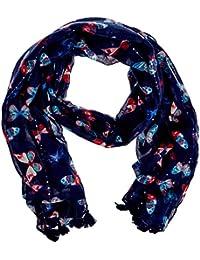 Springfield 5.T.Pashmina Mariposas80180, Fulár Para Mujer, Azul (Blues), Única