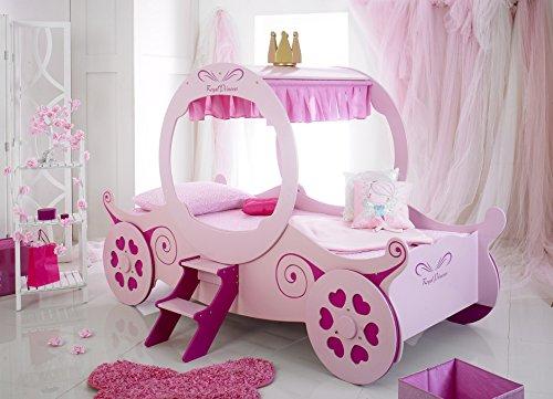 Buckingham Betten Pink Prinzessin Fairy Mädchen 3Ft Kutsche Designer nur (ideal für Kinder, Kinder oder Erwachsene) Holz Queen-bett Rahmen