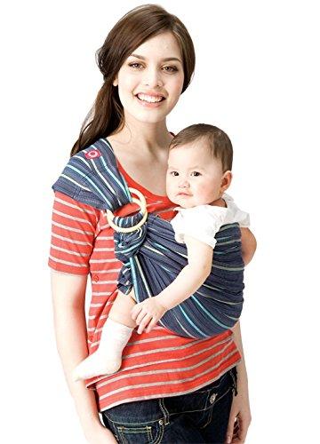 Mamaway bébé écharpe Bague   Transport   naissance à 3 ans   Allaitement léger et robuste en nylon Anneaux   testé pour contenir 50 kg pour 24 heures   bébé douche gift  Taille unique