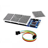 SODIAL(R) MAX7219 Microcontroller 4 In 1 Display LED 5P Line Dot Matrix Module for Arduino