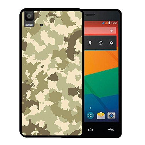 Bq Aquaris E5s - E5 4G Hülle, WoowCase Handyhülle Silikon für [ Bq Aquaris E5s - E5 4G ] Grüne Militärtarnung Handytasche Handy Cover Case Schutzhülle Flexible TPU - Schwarz