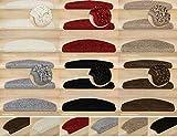 Kettelservice-Metzker® Stufenmatten, Treppen-Teppich Shaggy Queens halbrund, inkl. Fleckentferner, Creme 15 Stück
