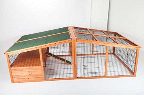 point-zoo Hasenstall / Kaninchenstall / Stall für Kleintiere XXL inkl. Freigehege NEU