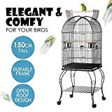 Popamazing Large Pet Bird Budgie Canary Aviary Parrot Cage Open Top Perches Stand Cage