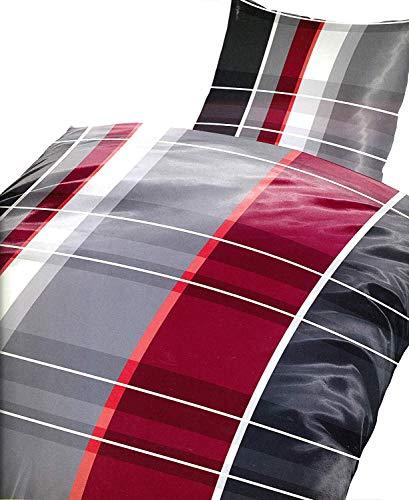 4 tlg. Bettwäsche Set Microfaser in verschiedene Designs ✔ 135x200 ✔ 155x220 ✔ mit 80x80 Kissenbezug ✔ (135 cm x 200 cm, Bassam) (Pack Bettwäsche-set)