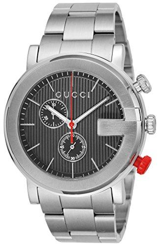 Gucci G Chronograph Black Dial Mens Watch YA101361