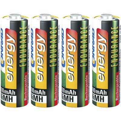 Conrad 251080Nickel Metal Hydride 2300mAh 1.2V Rechargeable Battery–Rechargeable Batteries (2300mAh, Nickel Metal Hydride, AA, 1.2V, 4PC (S))
