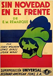 All Quiet on the Western Front Affiche du film Poster Movie Toute tranquillité sur la contenance ouest (11 x 17 In - 28cm x 44cm) Spanish Style A