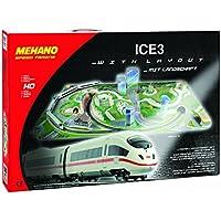 Mehano Ice 3–Juego de Tren con maqueta, Color Blanco y Rojo, h0 (T737)