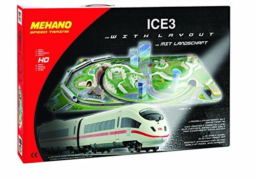 Mehano- Ice 3-Juego de Tren con maqueta, Color Blanco y Rojo, h0 (T737)