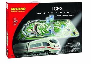 Mehano Ice 3-Juego de Tren con maqueta, Color Blanco y Rojo, h0 (T737)