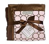 SwaddleDesigns Couverture Poussette, Cozy Mod Circles Marrons sur Rose Pastel