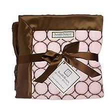 SwaddleDesigns - Kuscheldecke - Pastell Rosa mit Kreisen - Das perfekte Weihnachtsgeschenk