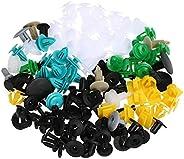 KKmoon Auto Fastener Clips 100PCS Car Mixed Universal Door Trim Panel Rivet Bumper Plastic Clip Car Retainer C