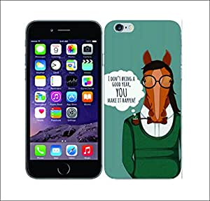 Galaxy Printed 2167 Horse Hipster Hard Cover for Apple Iphone 6 Plus
