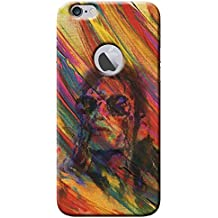SHAIVYA Michael Jackson Art on Colourful Pattern Design Themed Hard 3D Printed Back case Cover for iPhone 6 Logo Cut