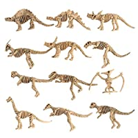 pengyu-  12Pcs Dinosaur Skeleton Figures Set Simulation Model Kids Toys, Models Toys, Dinosaur Toy