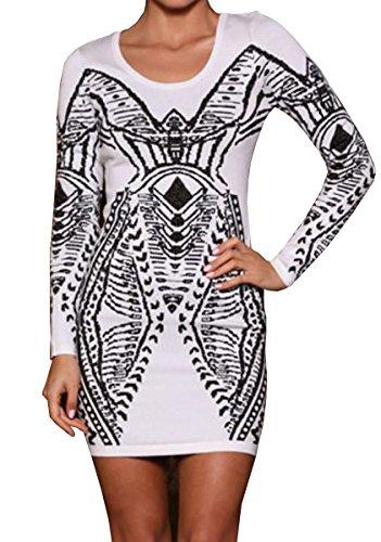Dissa® Deman Weiß SY21942-1 Cocktail Kleid Weiß