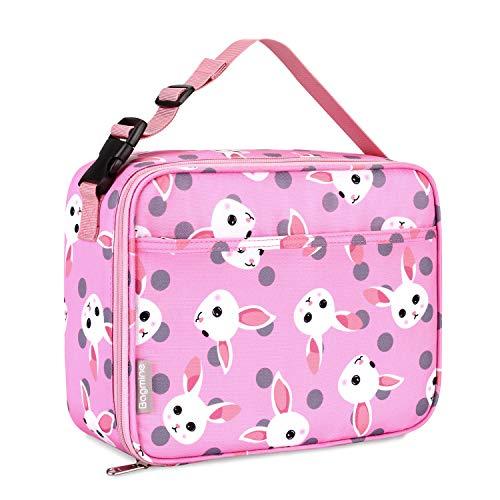 Bagmine Thermotasche, Lunchpaket für Kinder isolierte Wiederverwendbare Kühltasche Isolierbox Picknicktasche zur Aufbewahrung für Schule Picknick Reisen Arbeit Häschen