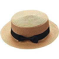 squarex Mutter und Vater, Mutter/Baby Mädchen Bowknot atmungsaktiver Hut Straw Hat Kids Mütze Kappe