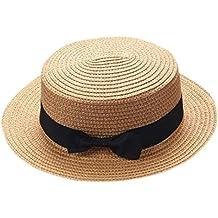 Sombrero de paja para niños con lazo para el padre madre bebé 5ad2221ce67