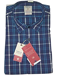 Turtle Men's Casual Full Sleeve Checked Shirt