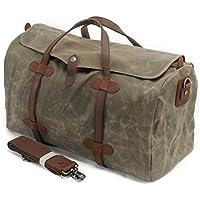 S-ZONE Bolso de viaje de cuero cer¨¢mico sellado Bolsa de viaje extra¨ªble de gran capacidad Holdall Travel Bag maleta con correa correa ajustable y desmontable