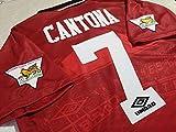 Photo de BROOK Cantona # 7 Manchester United Home Retro Soccer Jersey 1994-1995 Full Premier Patch par BROOK