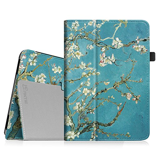 Fintie Apple iPad Mini 1/2 / 3 Hülle - Slim Fit Foilo Kunstleder Schutzhülle Tasche Etui Case Cover mit Auto Schlaf/Wach, Standfunktion für iPad Mini 3/2 / 1, Mandelblüten (Fintie Ipad Mini 2 Case Tastatur)