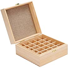 Gbtree 25-bottles olio essenziale valigetta scatola contiene 255,10,15ml e 10ml roller bottiglie olio casi per (Whisper Air)