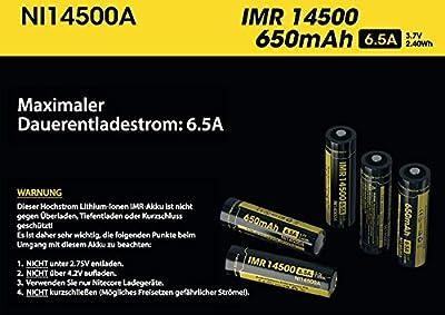 Nitecore IMR Akku -Typ 14500 3,7 V 650 mAh - für EA11 von Nitecore - Outdoor Shop