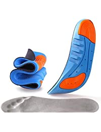 LUMONY Sports Insole Silicone Gel Insoles Sports Running Insoles Massaging Shoe Inserts Pad Shock Absorption for Men Women