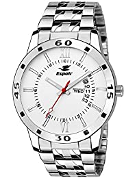 2907d4b46cb Espoir Exclusive Day   Date Display Analog White Dial Stainless Steel Men s  Watch - WDD0507