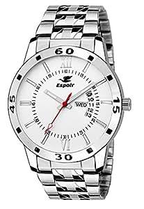 Espoir Analog White Dial Men's Watch-WDD0507