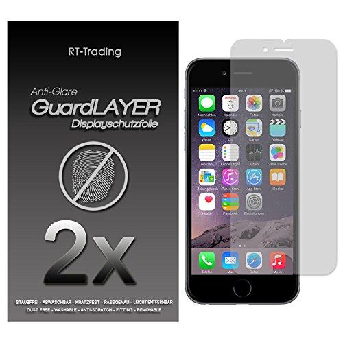 2x Apple iPhone 6 - Display Schutzfolie Matt Folie Schutz Display Anti Glare Screen Protector Displayfolie - RT-Trading Iphone Anti Glare Screen Protector