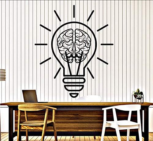Wandtattoo Birne Idee Gehirn Dekor Für Büroraum Aufkleber Abnehmbare Kunstwandgemälde Für Schlafzimmer Wohnzimmer ()