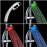 Anself LED 3 Farbwechsel Duschkopf Handbrause für Badezimmer