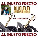 4 Adattatori Universali per Valvole - Da PRESTA a SCHRADER specifici per Bici da Corsa e Mountain Bike - Gonfia con il compressore o la Pompa a pedale - Made in Italy - AlGiustoPrezzo ® ™
