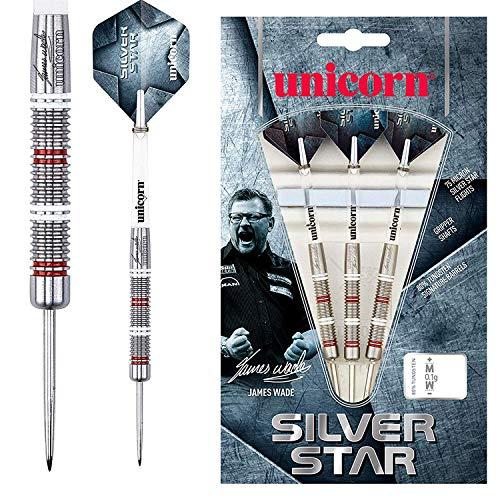 Unicorn Silver Star James Wade Steel Dart, 80% Tungsten, 22g