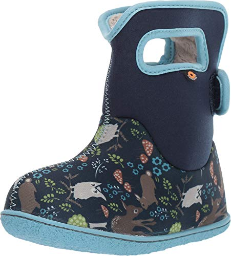 BOGS Kids Baby Woodland Blue Multi Navy Blue Wellington Boots