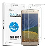 [2 Pack] OMOTON Compatible with Moto G5 Tempered Glass Screen Protector with [2.5D Round Edge] [9H Hardness] [Crystal Clearity] [Scratch-Resistant] [No-Bubble]