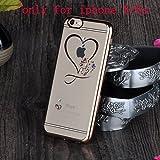 Unendlich U Hohles Herz Transparente Handy Zubehör Weiche Silikon Schutzhülle für iPhone 6 und für iPhone 6s 4,7 Zoll - 5