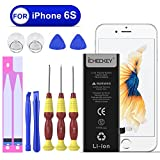 Icheckey Ersatz-Akku für iPhone 6S Batterie 1715mAh Battery Lithium-Ionen Accu inkl. Reparaturset Klebestreifen(Nicht für iPhone 6)