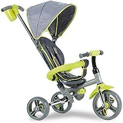 mondo- Tricycle, Harnais,Vert strolly Compact, 25339, Unique