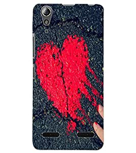 ColourCraft Heart Design Back Case Cover for LENOVO A6000 PLUS