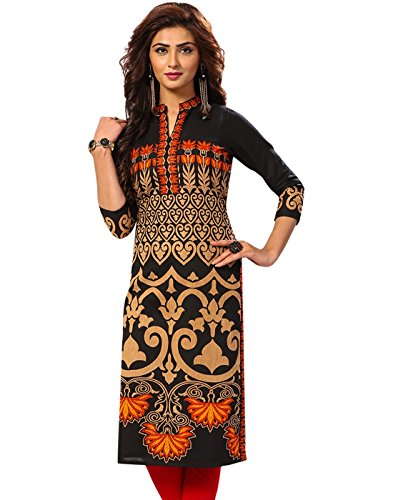 Jevi Prints Women's Cotton Dress Material (Saheli-1521_Free Size_Black)