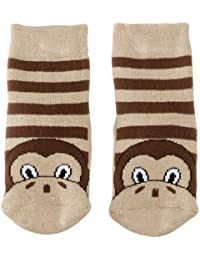 Country Kids Slipper Monkey Animal Print Socks