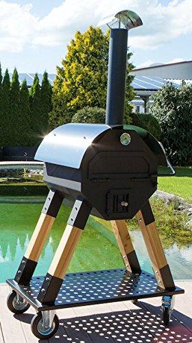 Exclusiver Pizzaofen Dynamics 800 für Privat oder Gewerblich, mobiler Holzbackofen, Brotofen, Flammkuchenofen, Pizza-Backspaß für draußen, Made in Germany