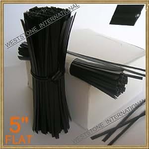 Kabelbinder - 12.70 cm, Kunststoff, schwarz, 125 Stück/Beutel